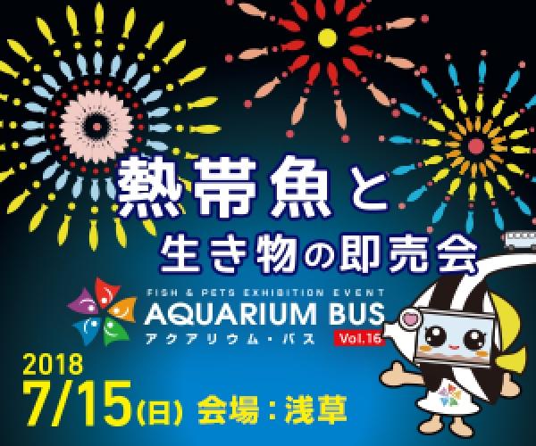 アクアリウムバス vol.16入場券を抽選で10組20名様にプレゼント!