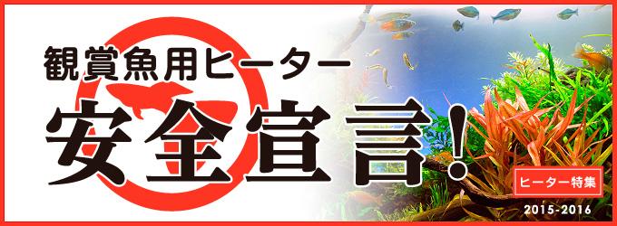 ヒーター特集「観賞魚用ヒーター安全宣言!」