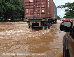 雨季のインドネシア